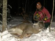 Colter Lubben poses with the deer he shot this past weekend