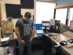 Luke Ghiardi in the 103 FXD studio during the St Jude Radiothon.