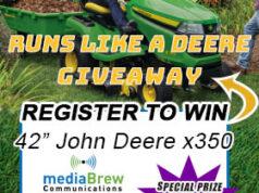 Win a John Deere x350 Riding Mower.