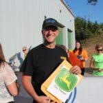 Carl Knofski of Harvey won the John Deere toy tractor!