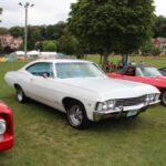 A classic white Impala SS