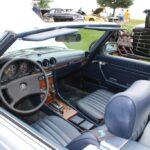 Dark blue interior of a Mercedes-Benz